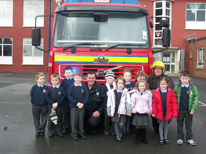 A visit from the Fire Brigade.