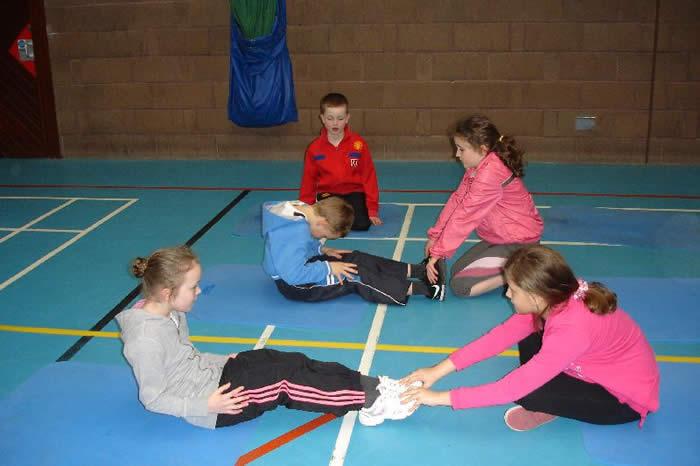A rigorous PE lesson in the Leisure Centre