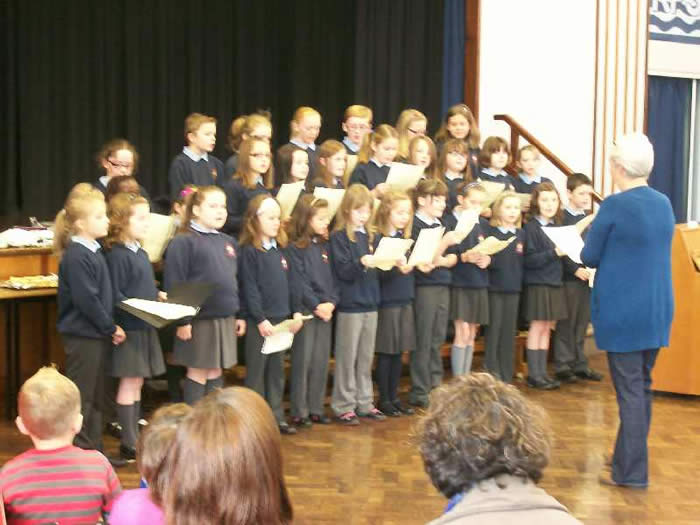 School Choir singing on our Open Day.